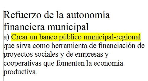 [nU] Un banco municipal no es un disparate